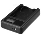 5V Camera Battery Charger with LCD Screen for Nikon EN-EL20 - Black