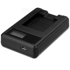 5V Camera Battery Charger with LCD Screen for Nikon EN-EL19 - Black