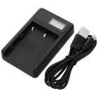 5V Camera Battery Charger with LCD Screen for Pentax D-LI50 - Black