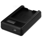 5V Camera Battery Charger with LCD Screen for Olympus BLN-1 - Black