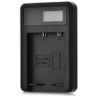 5V Camera Battery Charger with LCD Screen for Fuji NP-W126 - Black