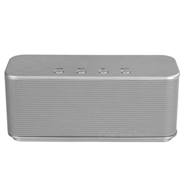 Stereo Sound Wireless Bluetooth V3.0 Speaker Subwoofer - Silver Gray