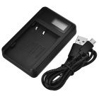 5V Camera Battery Charger with LCD Screen for Olympus BLM1