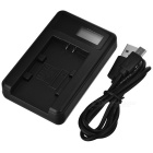 Camera Battery Charger with LCD Screen for SONY FP / FH / FV50 - Black