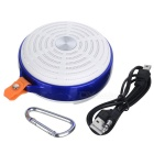 Mini Portable Wireless Bluetooth V3.0 Speaker Subwoofer - White + Blue
