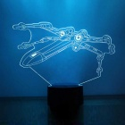 3D Stereoscopic 1.5W Night Light X-Wing Fighter LED Colorful Lamp