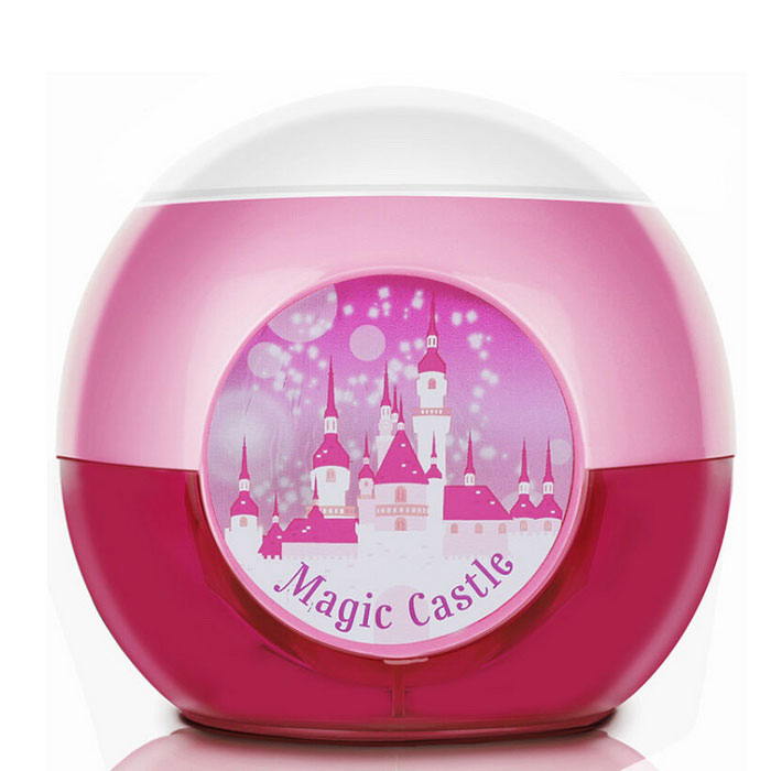 0709 Cartoon Round Shaped Full-automatic Pencil Sharpener - Deep Pink