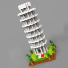 DIY Mini Pisa Leaning Tower Building Blocks Assembly Toys - Grey