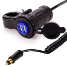 4.2A 12~24V BMW Motor Europe Cigarette Plug to Dual USB Mobile Phone Charger
