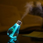 2W USB Powered Colorful Light Touch Humidifier - Gold + Transparent