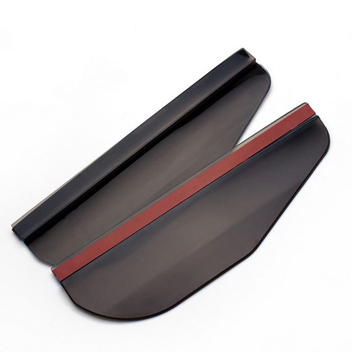 ZIQIAO Rearview Mirror Rain Shade Rainproof Blades - Black (Pair)Wipers<br>Form ColorBlack + Red + Multi-ColoredModelN/AQuantity1 DX.PCM.Model.AttributeModel.UnitMaterialPVCWiper Length16Wiper TypeTwo SectionsWiper StyleBonelessCompatible Car ModelUniversalPacking List2 * Car Rain Eyebrow<br>