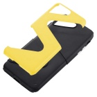 """Z"" PC protectora + TPU caso para IPHONE 7 plus - amarillo + negro"