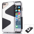 """ Z "" Protective PC + TPU Back Case for IPHONE 7 Plus - Silver + Black"