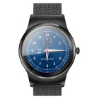 SMAWATCH SMA-09 Round Dual Bluetooth Smart Watch - Black (Steel Band)