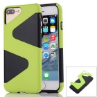 """ Z "" Protective PC + TPU Back Case for IPHONE 7 Plus - Green + Black"