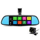 "Junsun 7"" Touch 1080p Car Rearview DVR Camera Recorder w/ GPS 16GB ROM"
