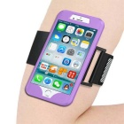 2 in 1 Sport Running Armband + Silicone Case for IPHONE 7 - Purple
