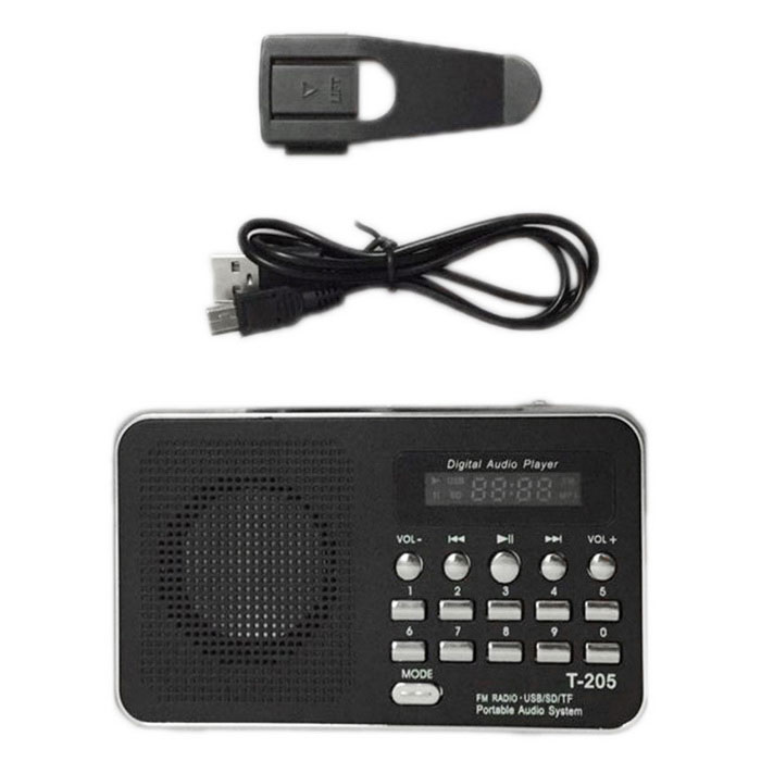 Fm Radio Cable : T tf card speaker fm radio mp player with usb cable