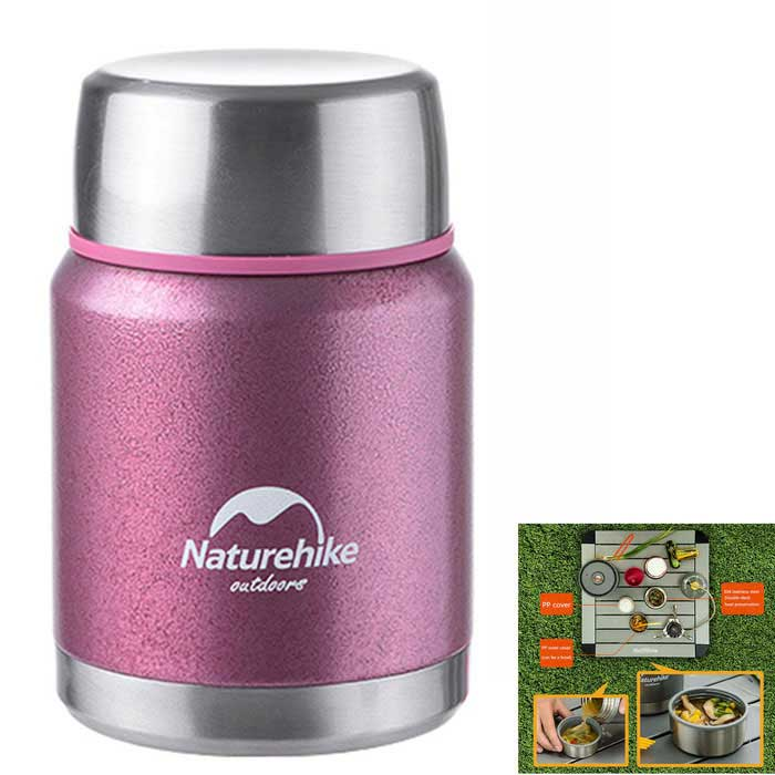 naturehike dual layer rostfritt stål termos gryta potten (350 ml)