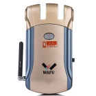 WAFU WF-008 Hidden Remote Control Zinc Alloy Lock - Blue + Gold