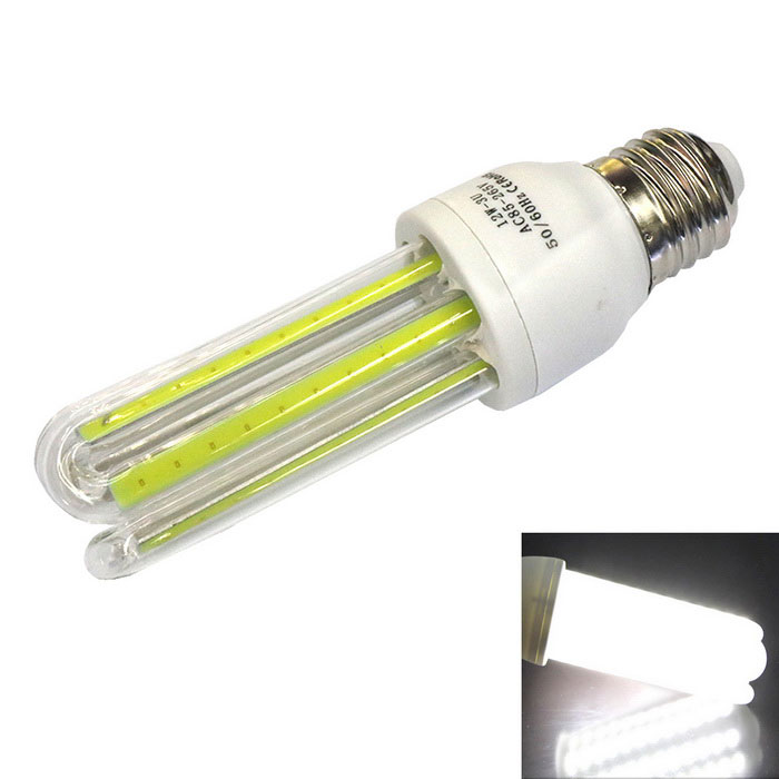 Ultra-bright E27 12W 6000K 960lm 3U COB Lamp Cold White LightE27<br>Color BINCold WhiteMaterialPlastic and glassForm  ColorWhite + Yellow + Multi-ColoredQuantity1 DX.PCM.Model.AttributeModel.UnitPower12WRated VoltageAC 85-265 DX.PCM.Model.AttributeModel.UnitConnector TypeE27Emitter TypeOthers,Flip-chip COBTotal Emitters6Theoretical Lumens960 DX.PCM.Model.AttributeModel.UnitActual Lumens900~960 DX.PCM.Model.AttributeModel.UnitColor Temperature6000KDimmableNoPacking List1 * Lamp<br>