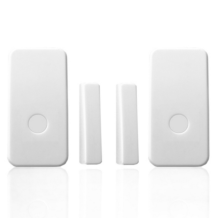 Wireless Door Magnetic Sensor Wireless Emergency Button - White
