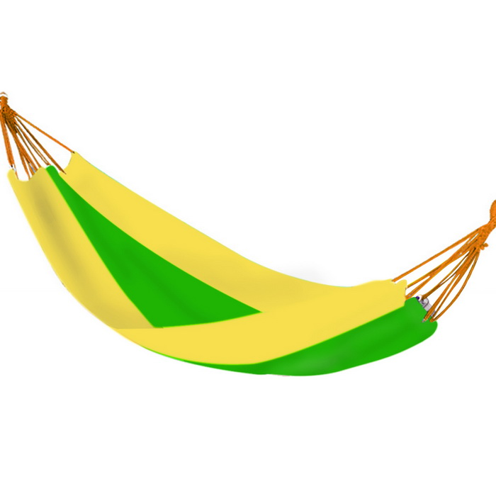 WCSDD0009 Outdoor Camping 2-Person Oxford Hammock - Yellow + Green