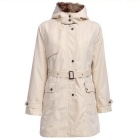 Fashion Outdoor Camping Travel Hooded Overcoat w/ Removable Fur Lining - Beige (Size XXL)