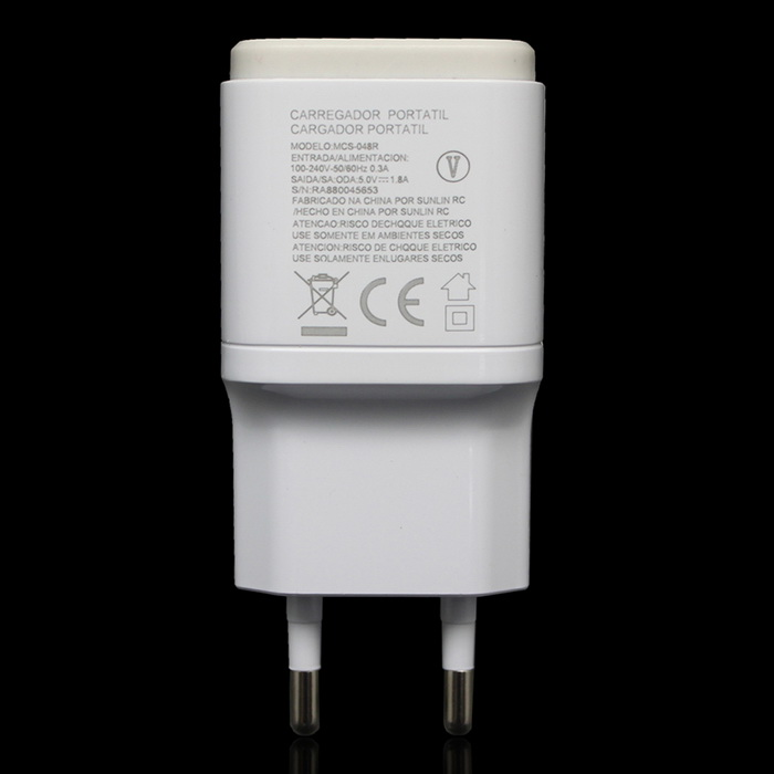 EU Plug USB 5V 1.8a Adaptive Fast Charger - WhiteAC Chargers<br>Form  ColorWhiteModel-MaterialABSQuantity1 DX.PCM.Model.AttributeModel.UnitCompatible ModelsLG G5 / G4 / G4 Mini / K10 / V10 / G3 / G3 MiniInput Voltage100-240 DX.PCM.Model.AttributeModel.UnitOutput Current1.8 DX.PCM.Model.AttributeModel.UnitOutput Voltage5 DX.PCM.Model.AttributeModel.UnitPower AdapterEU PlugPacking List1 * EU plug charger<br>