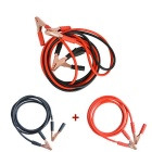 Auto Red + Black Battery Test Clip Jumper Booster Cable Set (2.2m)