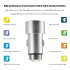 Hat-Prince E5 2-USB Car Charger / Metal Emergency Hammer - Silver