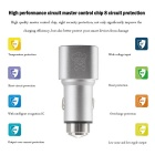 Hat-Prince 2-USB Car Charger / Metal Emergency Hammer - Silver