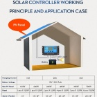 LCD Display PWM Solar Charge Controller with Temperature compensation