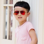 Children's 9506 Polarized Sunglasses for Kids - Gold + Red REVO