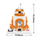 3D Diamond Particles Assembled BB-8 Small Blocks Educational Toy
