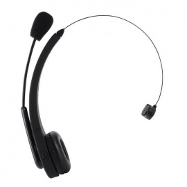 Bluetooth Hands-free Mic Headset Over-the-Head Headphone - Black