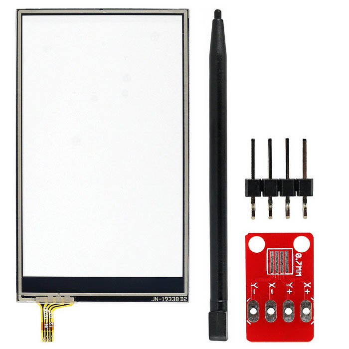 OPEN-SMART 3.2 80*47mm Resistive Touch Screen Kit for ArduinoSensors<br>Form ColorBlack + RedModelN/AQuantity1 DX.PCM.Model.AttributeModel.UnitMaterialPCB+Alloy+PlasticApplicationResistive touch screen, control your lamp and so on.Working Voltage   2.5 - 5.5V DX.PCM.Model.AttributeModel.UnitEnglish Manual / SpecYesDownload Link   http://drive.google.com/drive/folders/0B6uNNXJ2z4CxTjR1LThUaVNGNDQ?usp=sharingPacking List1 * Touch screen adapter module 1 * 3.2 Touch Screen1 * Touch pen1 * 4P pin header<br>