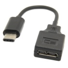 USB 3.1 de tipo C macho a micro USB 3.0 cable de datos femenino de 10 Pines (7 cm)