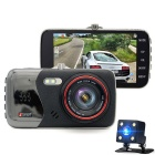 "Junsun H8 4"" 1080P Dual Lens Video Camera Recorder Car DVR"