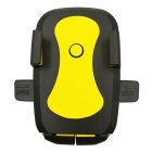 ZIQIAO 360 Suction Cup Type Mobile Phone Bracket - Black + Yellow