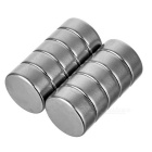 12*5mm Cylindrical NdFeB Magnet - Silver (10 PCS)