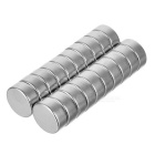 12*5mm Cylindrical NdFeB Magnet - Silvery White (20 PCS)