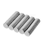 12*5mm Cylindrical NdFeB Magnet - Silver (50 PCS)