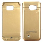 3.7V 4200mAh Li-polymer Battery Back Case for Samsung S6 Edge - Gold