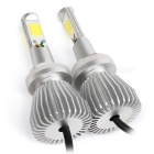 IP68 60W brillante 6000lm 4-COB LED bombillas blanco frío (2PCS, DC 9 ~ 36V)