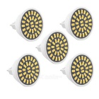 High Bright MR16 7W 500~700lm 32-5733 SMD Warm White LED Spotlights (AC 110~130V, 5Pcs)