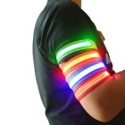 Sports Running 3-Mode LED Luminous Reflective Belt Arm Band - Blue
