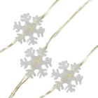 Jiawen 10m Copper Wire Snowflake Shape Christmas LED String Lights