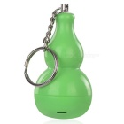 Gourd Shaped Personal Alarm w/ Keyring - Green