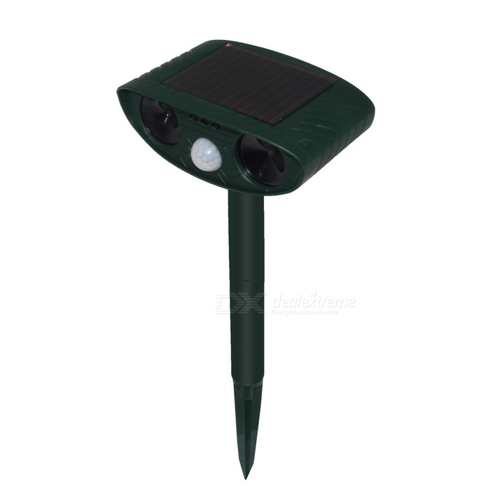 RC-511 Solar Power Animal Repeller for Repelling Bat Cat Dog FoxesGardening Tools<br>Form  ColorGreenQuantity1 DX.PCM.Model.AttributeModel.UnitMaterialABSPacking List1 * Solar animal repeller 1 * English user manual<br>